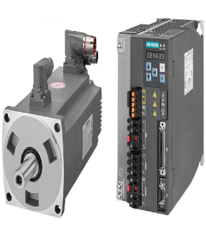 سرو زیمنس با ورودی پالس V90-2000W-2000RPM(ترمزدار)