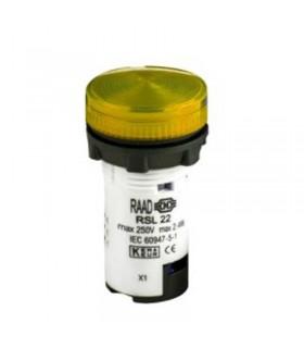 سیگنال LED قطر 22 زرد رعد