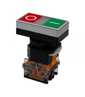 شستی دوبل استپ استارت چراغ دار 220V پارس فانال PFP50-22D-11RD