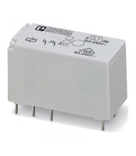 رله سرامیکی دو کنتاکت 24DC و ( 8 پایه خطی 8 آمپر ) REL-MR- 24DC/21-21
