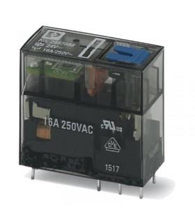 رله شیشه ای تک کنتاکت 24DC و ( 8 پایه خطی 16 آمپر ) REL-MR- 24DC/21HC/MS