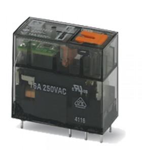 رله شیشه ای تک کنتاکت 230AC و ( 8 پایه خطی 16 آمپر ) REL-MR-230AC/21HC/MS