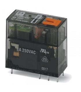 رله شیشه ای دو کنتاکت 230AC و ( 8 پایه خطی 8 آمپر ) REL-MR-230AC/21-21/MS