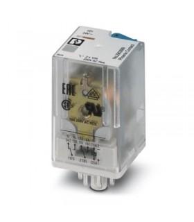 رله شیشه ای دو کنتاکت 24DC و (8 پایه گرد 10 آمپر) REL-OR2/LDP- 24DC/2X21