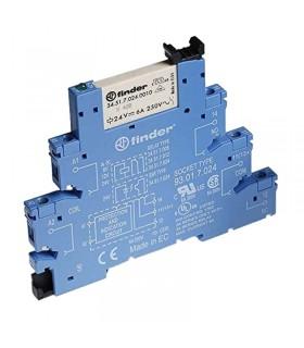رله PLC فیندر 24V DC تک کنتاکت چنج آور 38.51.7.024