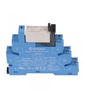 رله PLC فیندر 24V DC دو کنتاکت چنج آور 38.52.7.024