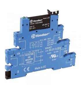 رله PLC فیندر ورودی 24V DC خروجی 220V AC مدل 38.81.7.024.8240