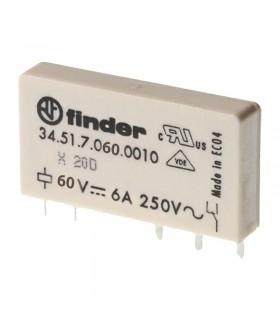 رله سرامیکی 60VDC فیندر تک کنتاکت 34.51.7.060