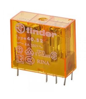 رله شیشه ای 110VAC فیندر دو کنتاکت 8 آمپر 40.52.8.110