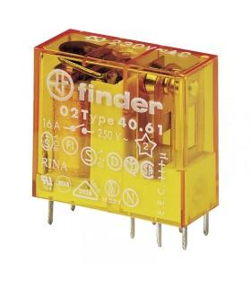 رله شیشه ای 110VAC فیندر تک کنتاکت 16 آمپر 40.61.8.110