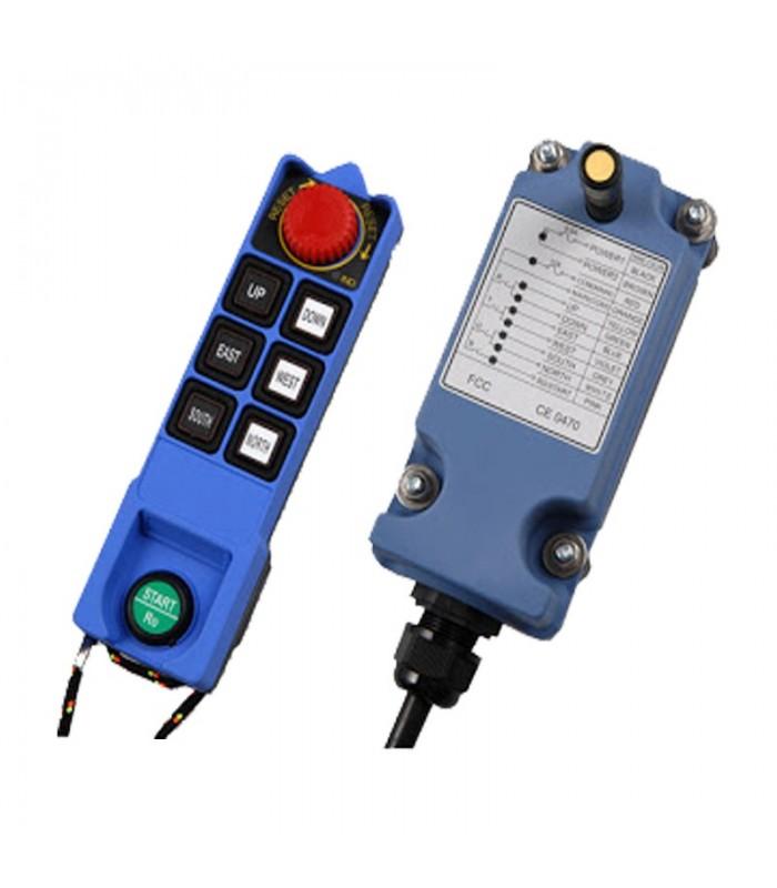 ریموت کنترل ساگا 6 کلید تک سرعت SAGA1-L8B