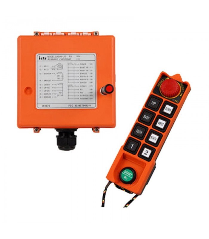 ریموت کنترل ساگا 8 کلید دو سرعت SAGA1-L10