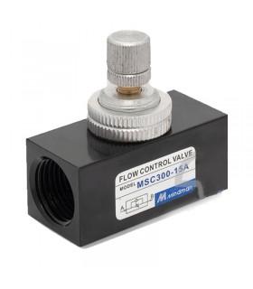 شیر کنترل جریان هوای mindman سایز 3/8 اینچ مدل MSC300-10A