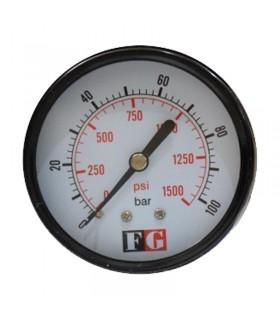 گیج فشار صفحه 6 سانت 100 بار خشک تابلویی اف جی (FG)
