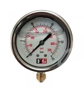 درجه فشار روغنی 2 بار صفحه 6 سانت ایستاده FG