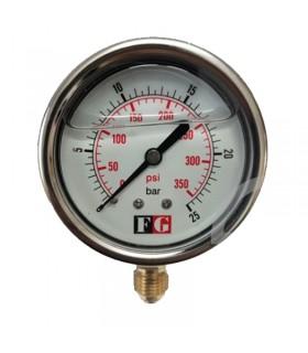 پرشر گیج فشار روغنی 4 بار صفحه 10 سانت ایستاده FG
