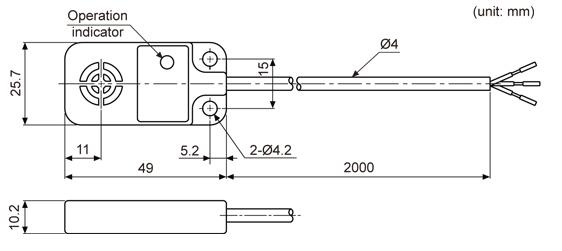ابعاد سنسور القایی آتونیکس PFI 25-8DN2
