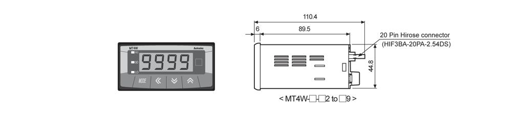 ابعاد پنل میتر آتونیکس مدل MT4W-AA-41