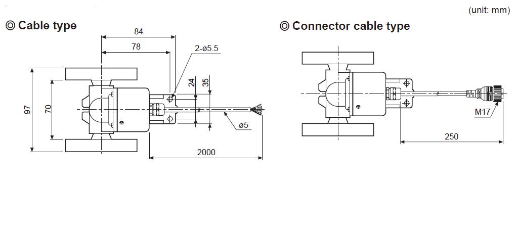 ابعاد انکودر آتونیکس ENC-1-3-T-24
