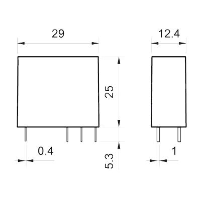 ابعاد رله شیشه ای فیندر 44.62
