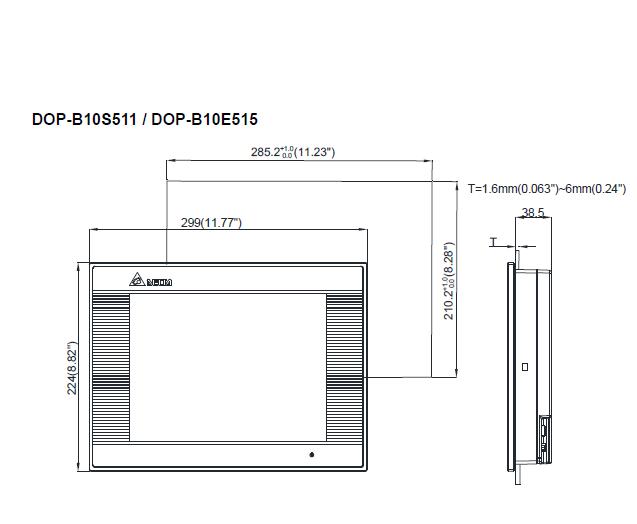 ابعاد اچ ام آی دلتا مدل DOP-B10E615