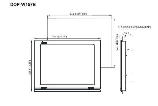 ابعاد اچ ام آی دلتا مدل DOP-W157B