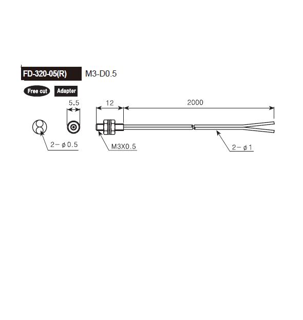 ابعادکابل فیبر نوری آتونیکس FD-320-05