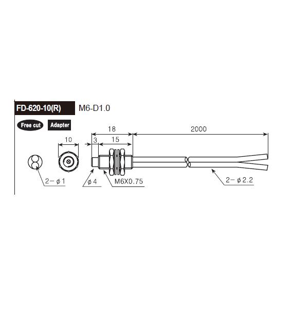 ابعادکابل فیبر نوری آتونیکس FD-620-10