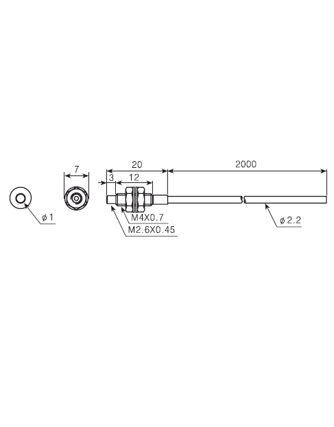ابعادکابل فیبر نوری آتونیکس FT-420-10
