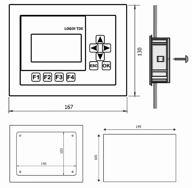 ابعاد و اندازه محصول لوگو TDE