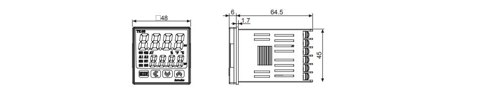 ابعاد ترموستات آتونیکس TK4S-14RN