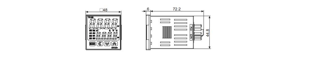 ابعاد ترموستات آتونیکس TK4SP-14RN