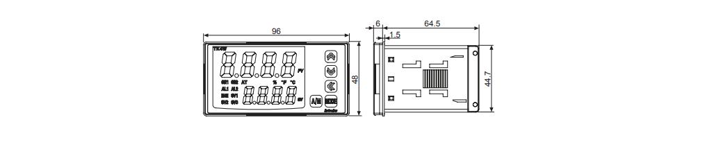ابعاد ترموستات آتونیکس TK4W-A4RC