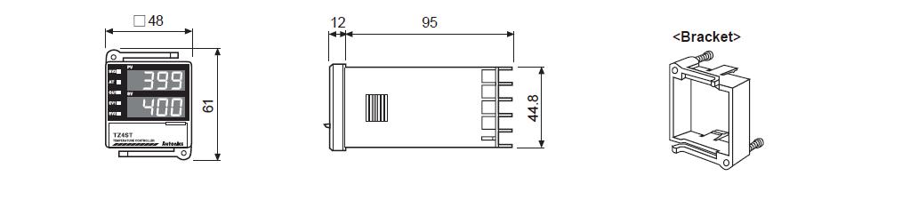 ابعاد ترموستات آتونیکس TZ4ST-24C