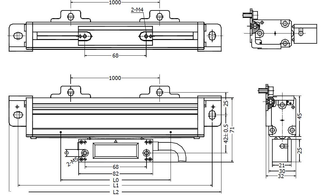 ابعاد خط کش سینو سری KA600