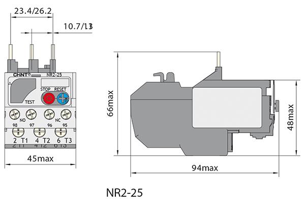 بعاد بی متال چینت سری NR2-25